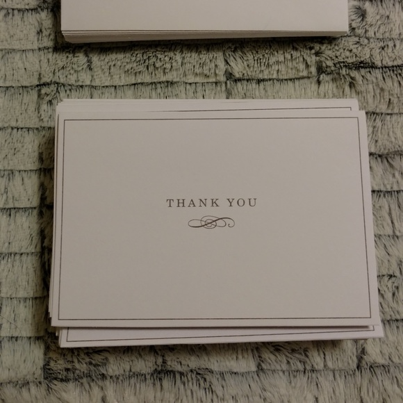 Carlton Cards Other - Blank White & Silver Thank You Cards & Envelopes